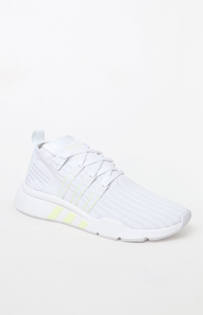 finest selection 6f962 ee899 EQT Support Mid ADV Primeknit White Shoes