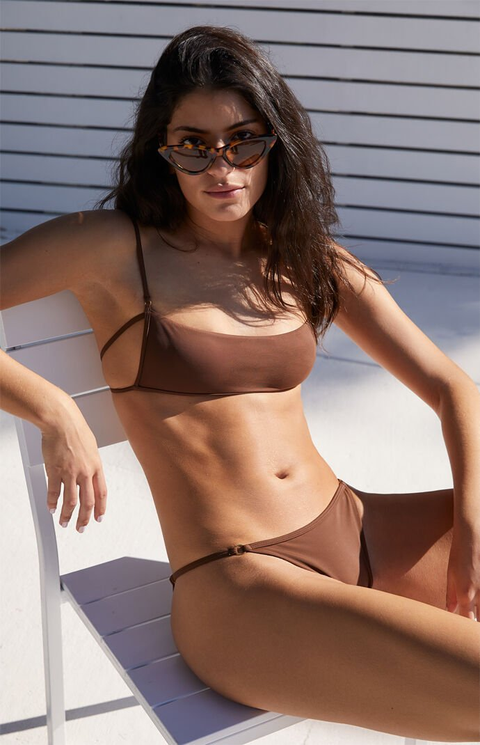 Brown Drea Ring Balconette Bikini Top