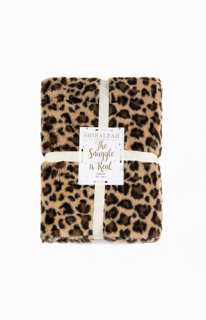 Jill Leopard Throw Blanket