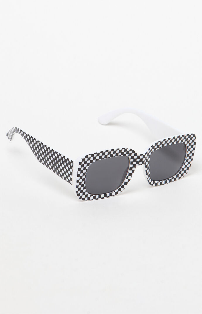 d23c1625f4473 PacSun Checkered Square Sunglasses at PacSun.com