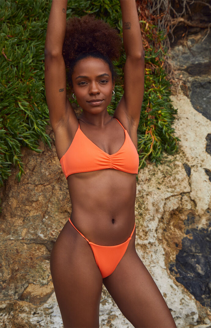 Orange Lea Skimpy Bikini Bottom