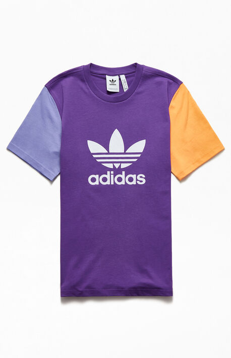 Purple & Orange Blocked Trefoil T-Shirt