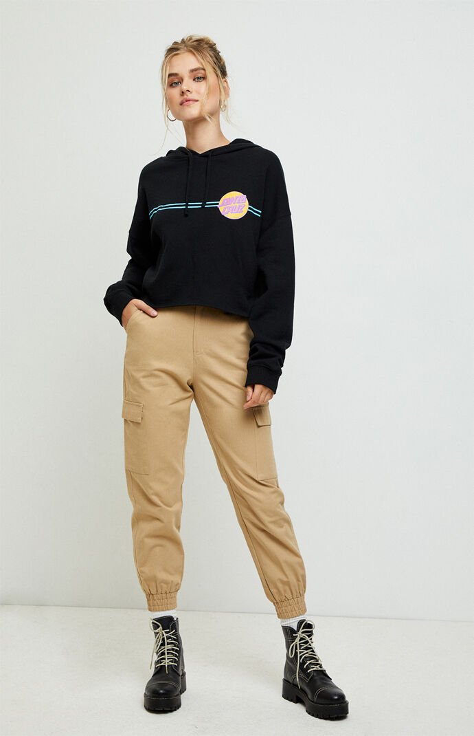 Other Dot Cropped Hoodie