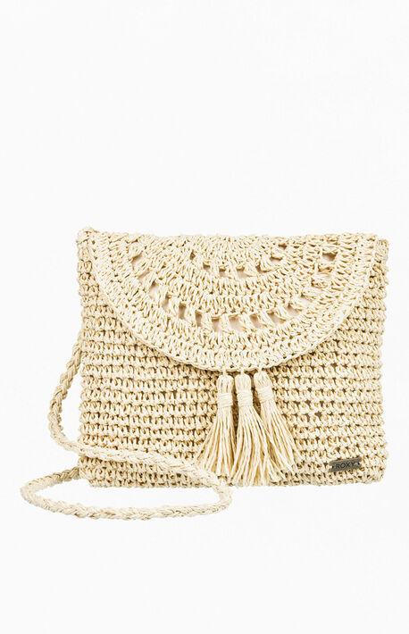 Say Aloha Straw Shoulder Bag