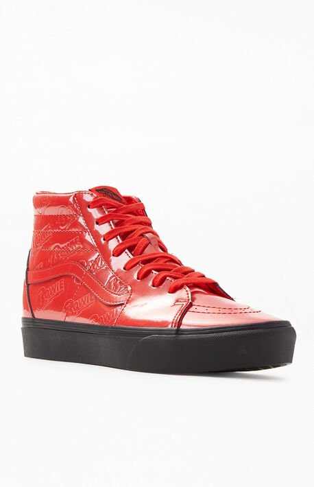 522690254a0086 x David Bowie Platform 2.0 Sk8-Hi Shoes · Vans ...