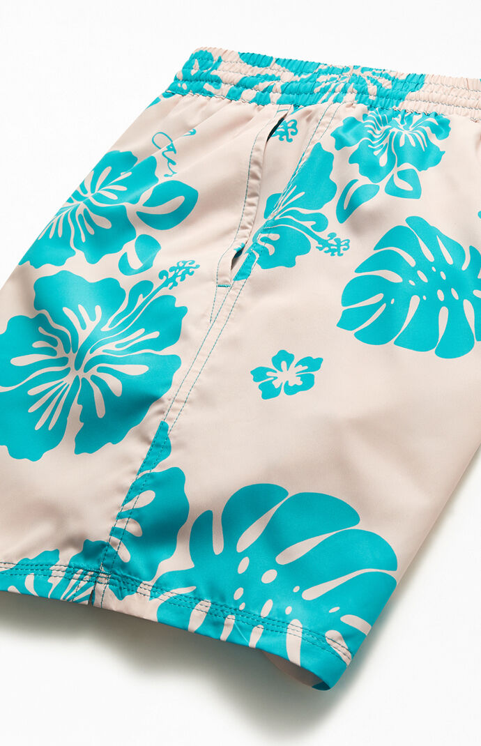 "Floral Print 16"" Swim Trunks"