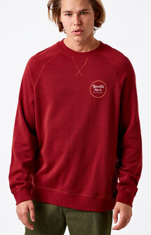 Wheeler Brick Red Crew Neck Sweatshirt