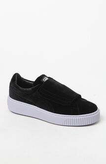 Women's Suede Wrap Basket Platform Sneakers