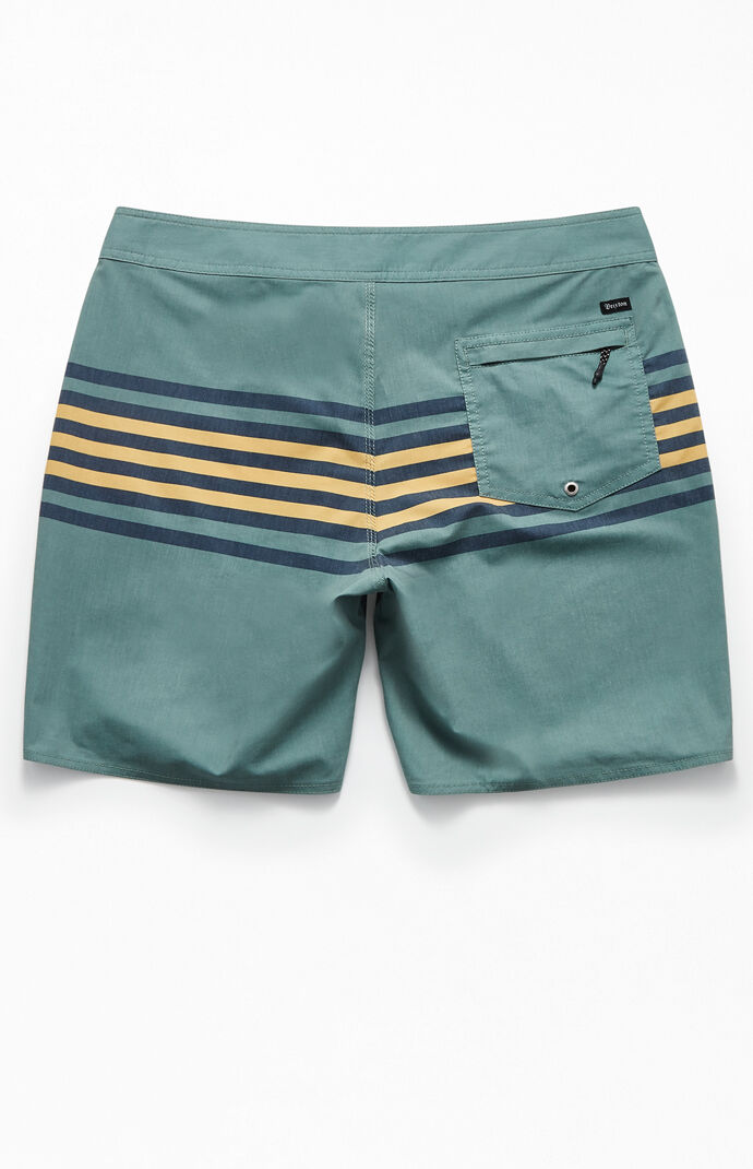 "Green Barge Stripe 19"" Boardshorts"