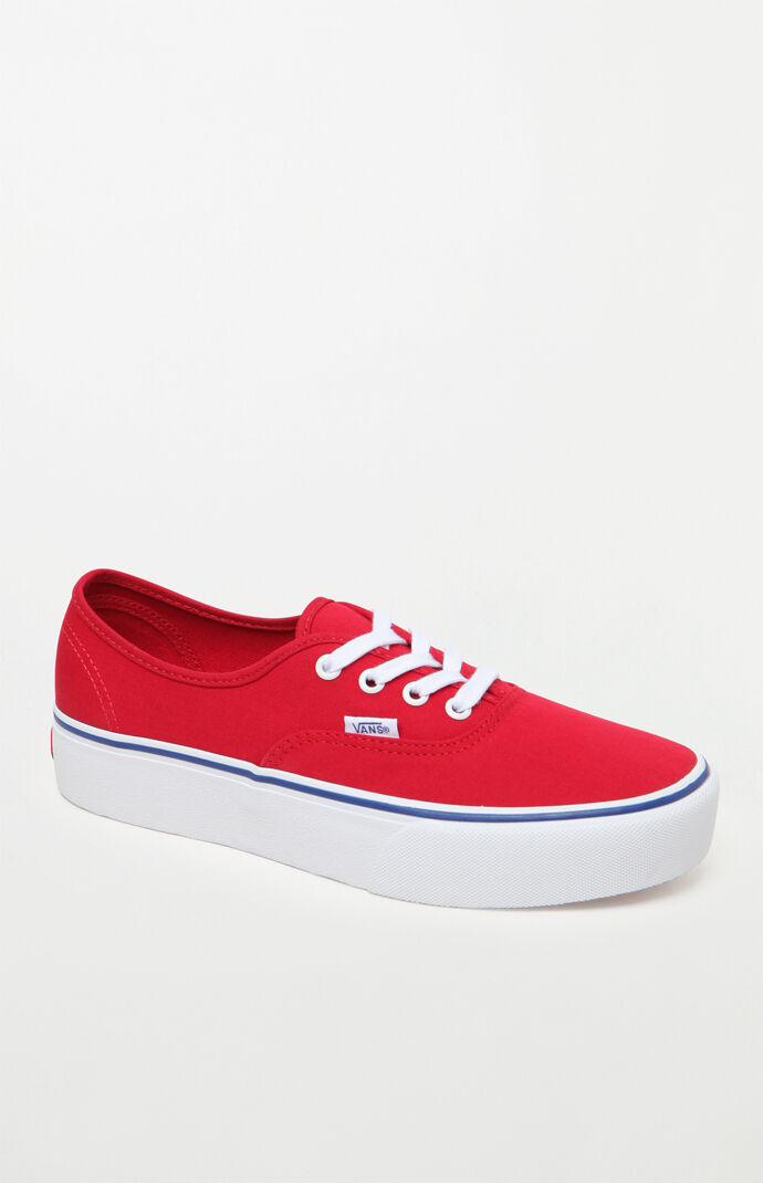 5505555e635 Vans Women s Red Authentic Platform 2.0 Sneakers at PacSun.com