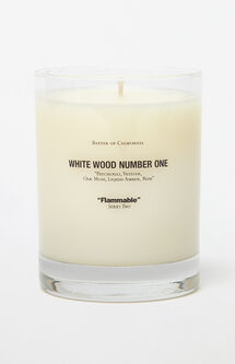 White Wood 1 Candle