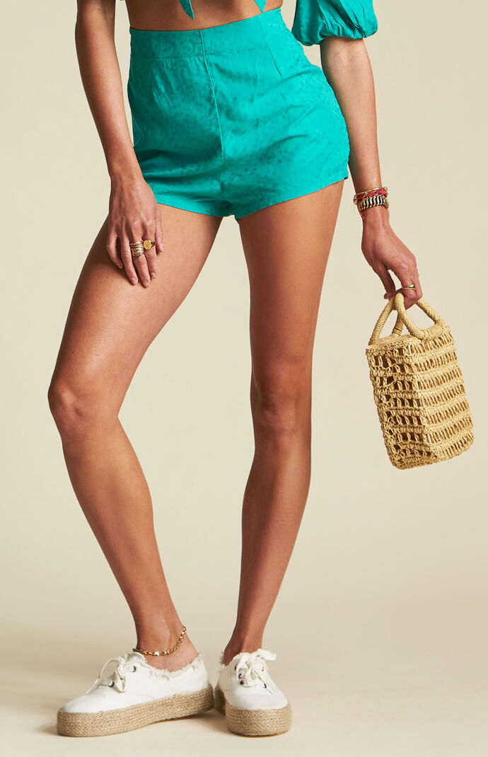 x Sincerely Jules Teal Keep It Simple Shorts