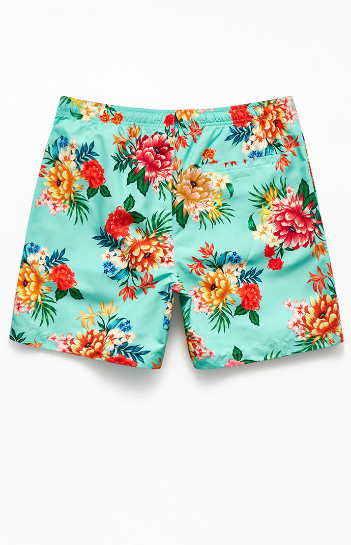 "May Flower 17"" Swim Trunks"