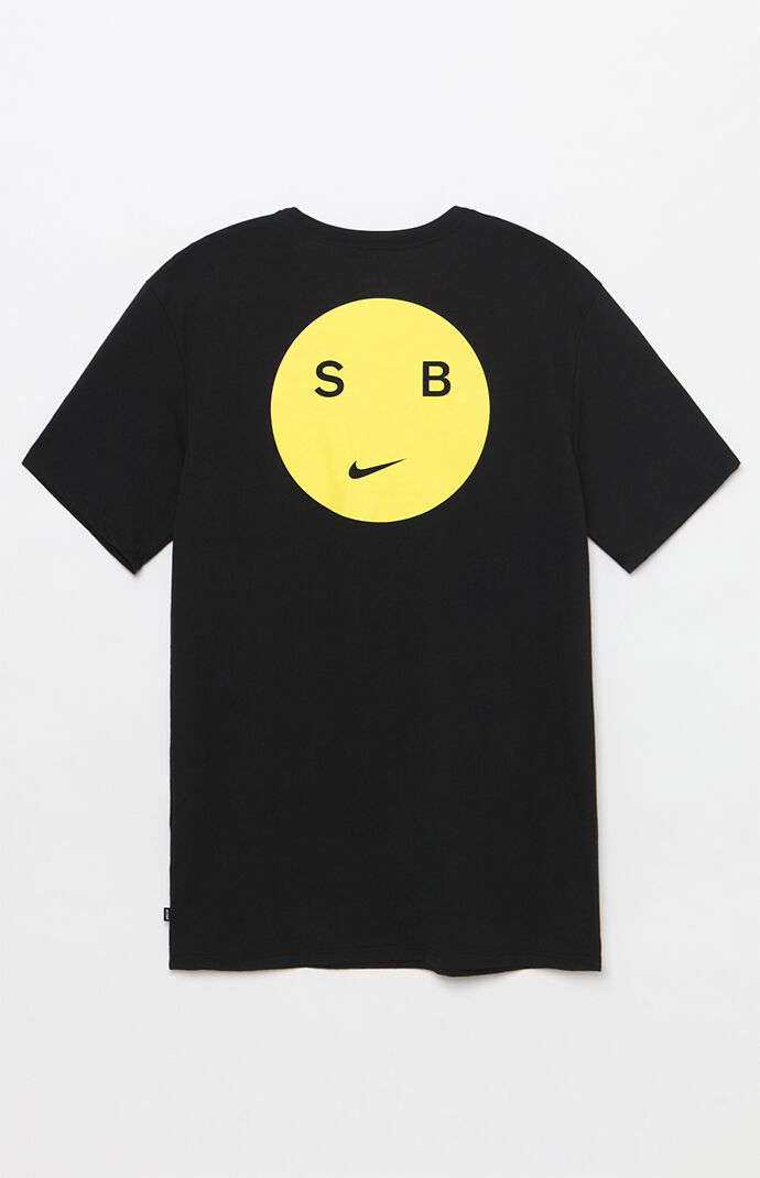 Nike SB Dri-FIT Smiley T-Shirt - Black/yellow 6845309