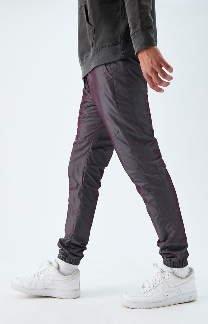 Iridescent Nylon Jogger Pants
