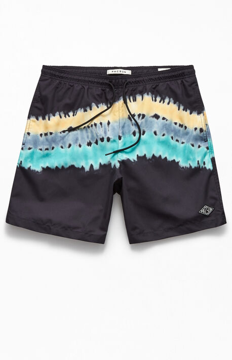 "Tie-Dyed Wave 17"" Swim Trunks"