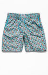 "Micro Hawaii 19"" Swim Trunks image number null"