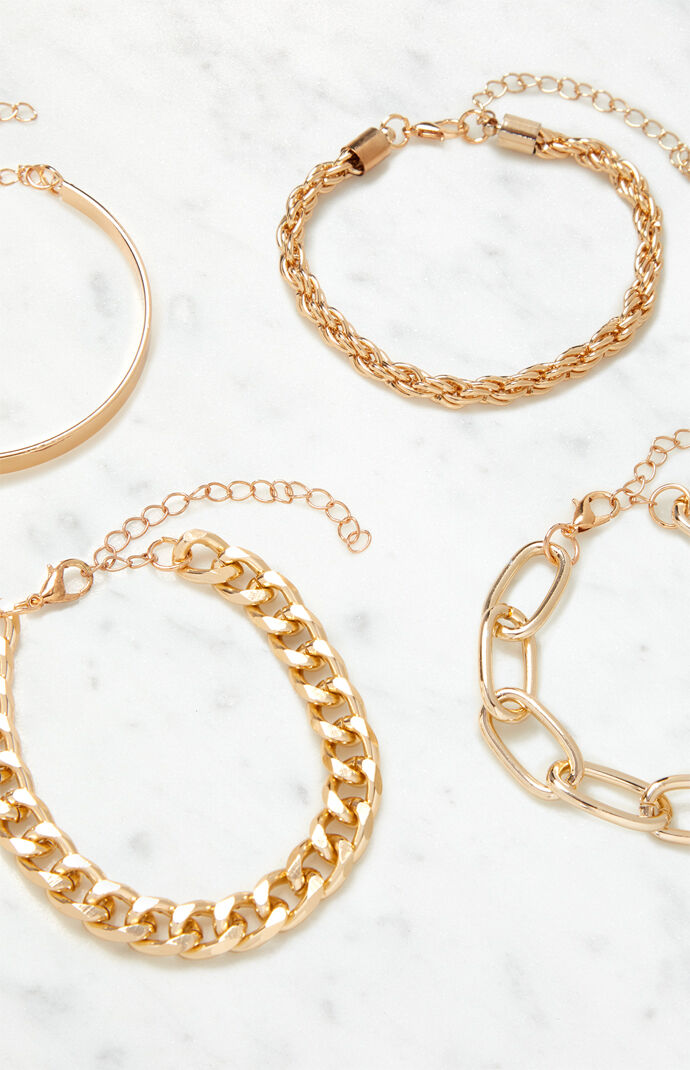 Chain And Bangle Bracelet Pack