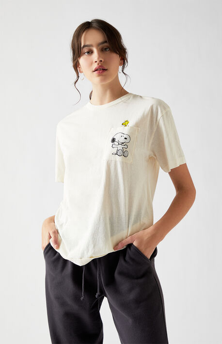 Snoopy Heart Pocket Short Sleeve T-Shirt