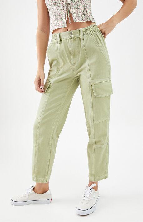 Green Utility Cargo Pants