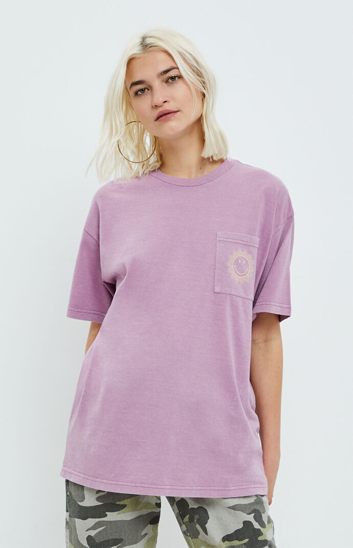 Smiley Sun Burst Pocket T-Shirt