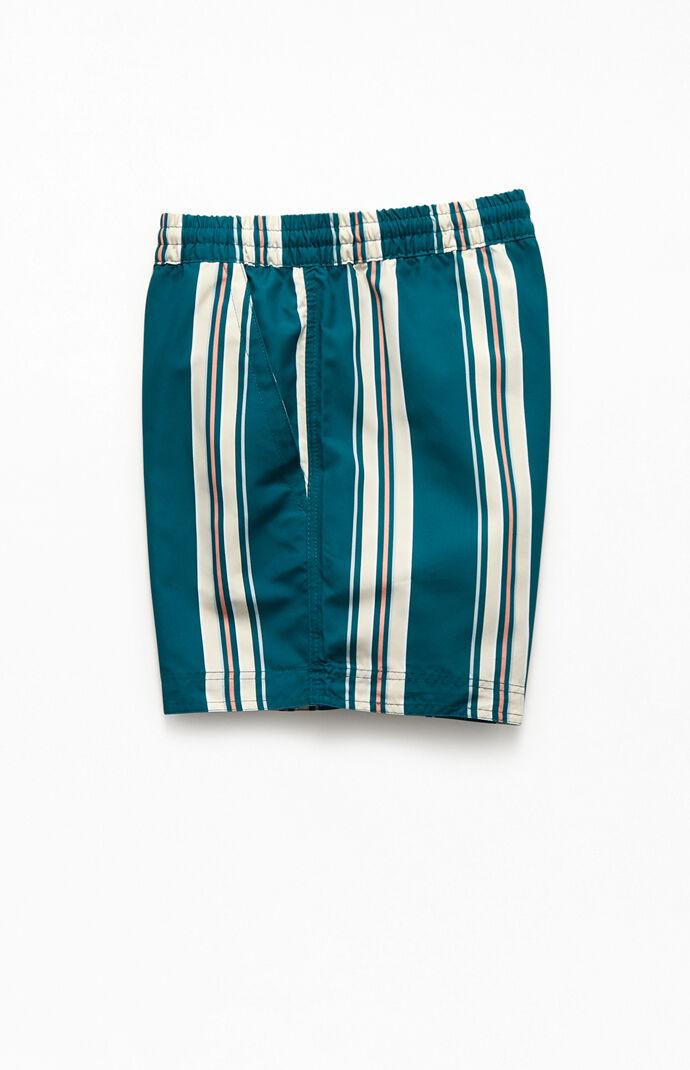 """Striped 15"""" Swim Trunks"""