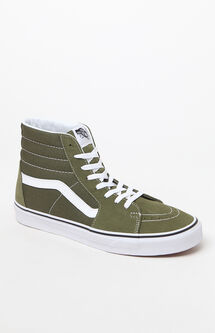 Sk8-Hi Green & White Shoes
