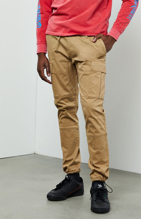 Workwear Khaki Slim Fit Cargo Pants