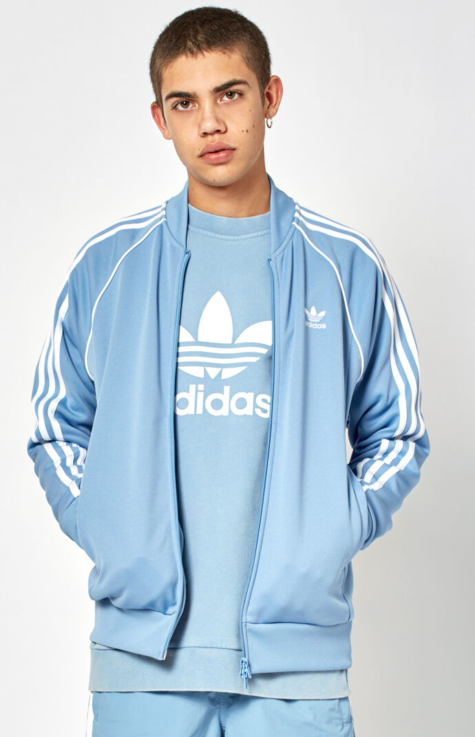 adidas Mens Superstar Track Jacket - Blue 7214950