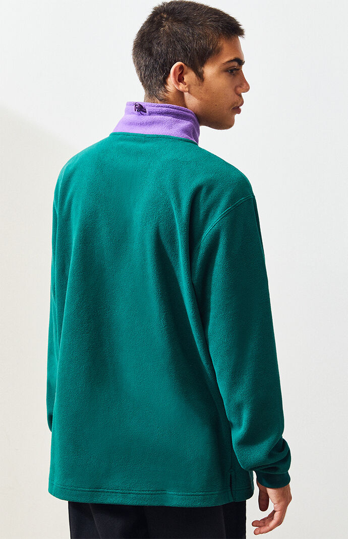 Colorblocked Polar Fleece Half Zip Pullover