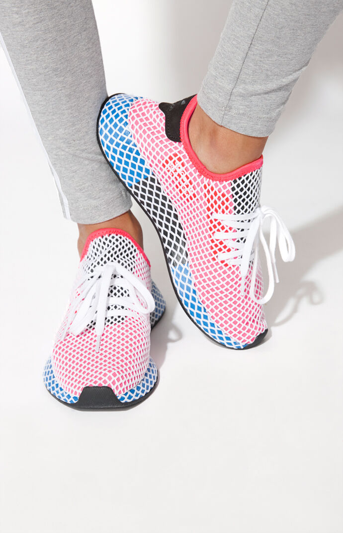 adidas Women's Red Deerupt Runner Sneakers at PacSun.com