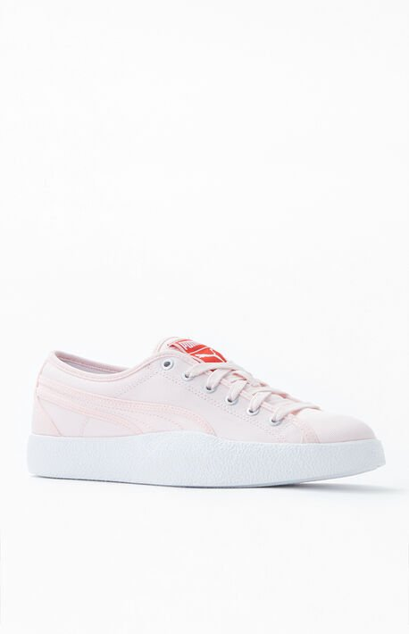 Love Pink Canvas Sneakers