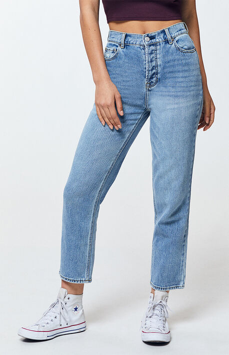 534b7080af3 Jane Blue High Waisted Straight Leg Jeans