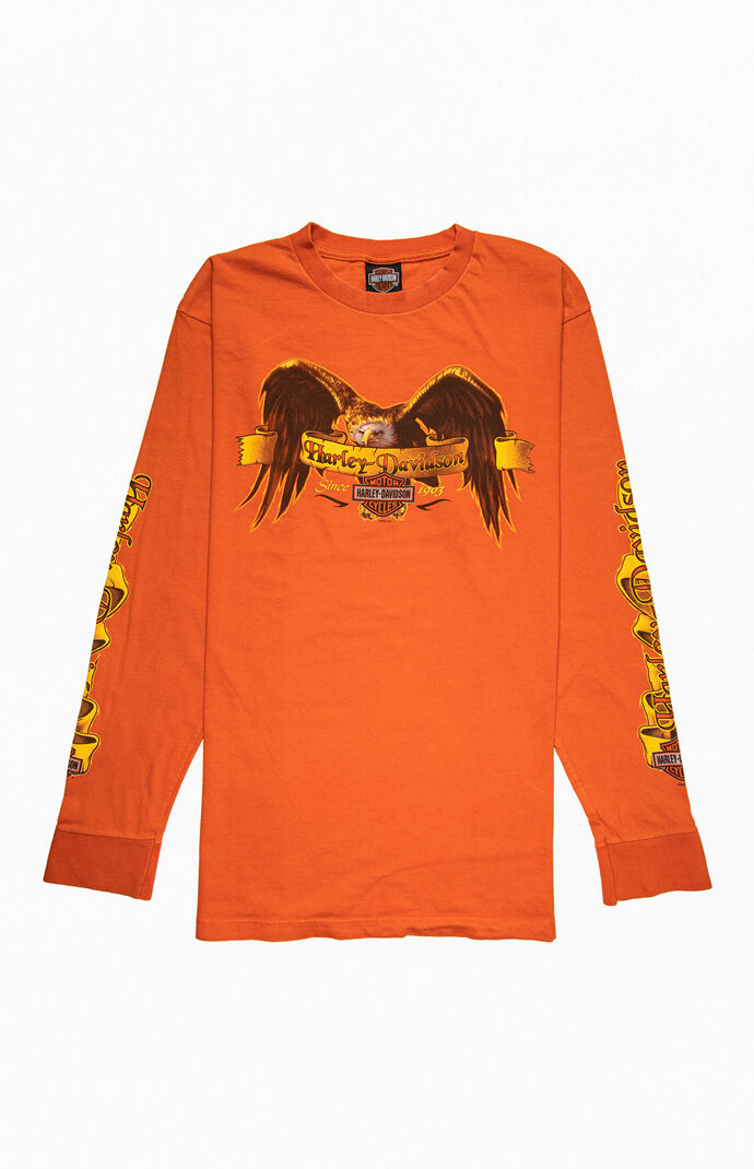 Orange Harley Long Sleeve T-Shirt