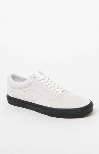 Suede Old Skool White & Black Shoes