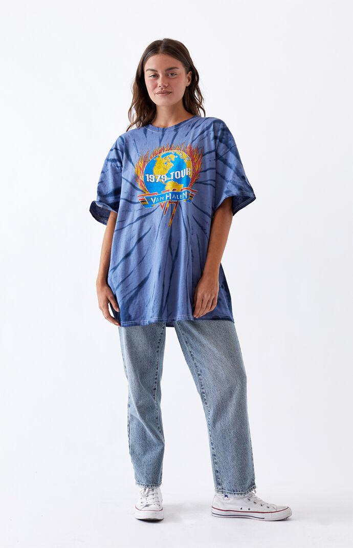 Tie-Dyed Van Halen Boyfriend T-Shirt