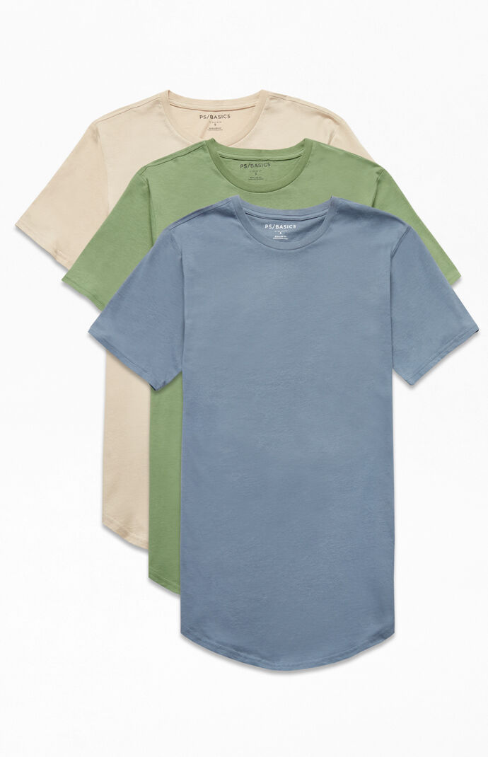 Three Pack Emilia Scallop T-Shirts