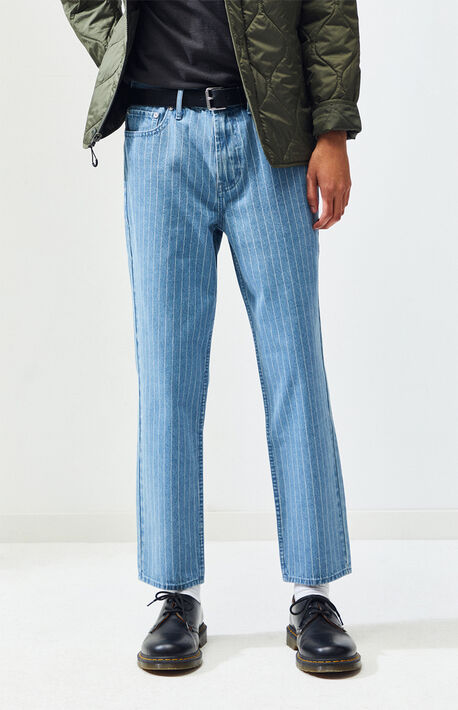 3ecabf5fbf2a Light Stripe Slim Taper Jeans