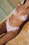 Floral Camille Shine Ribbed Bikini Bottom image number null