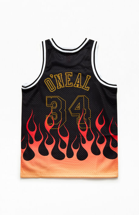 O'Neal Lakers Flames Basketball Jersey
