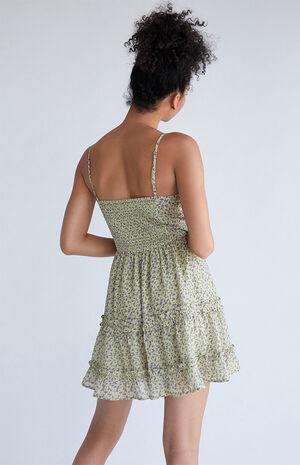Twist Front Tiered Babydoll Dress