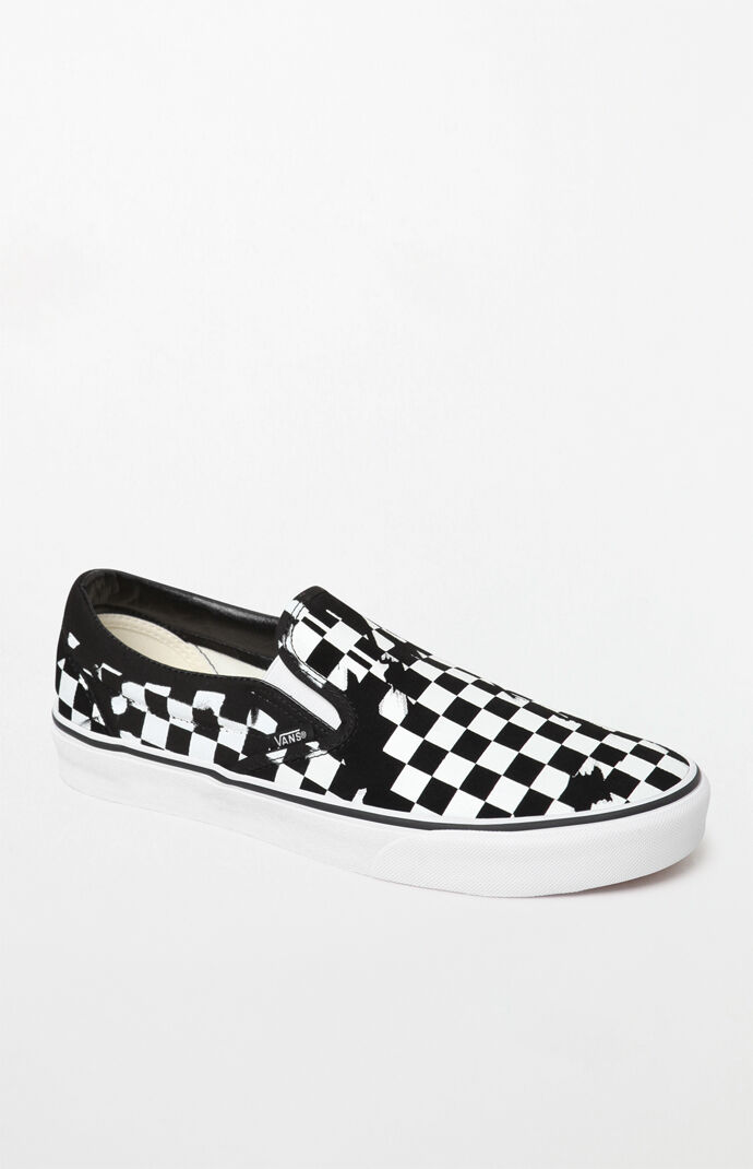 Vans Overprint Checker Slip-On Shoes  bebaab0e9