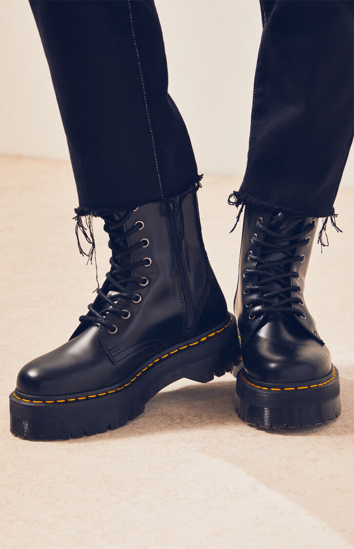 61965ce216 Dr Martens Polished Smooth Jadon Boots | PacSun