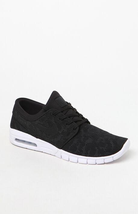 Stefan Janoski Max Black & White Shoes