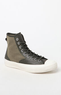 Chuck 70 Hiker Leather Nylon High Top Olive Shoes