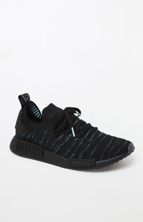 b94e358f94bf7 NMD R1 STLT Primeknit Black Shoes