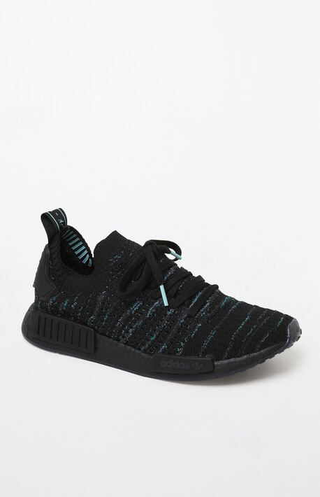 02cac4d2d NMD R1 STLT Primeknit Black Shoes