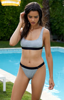 Villain Cropped Bikini Top