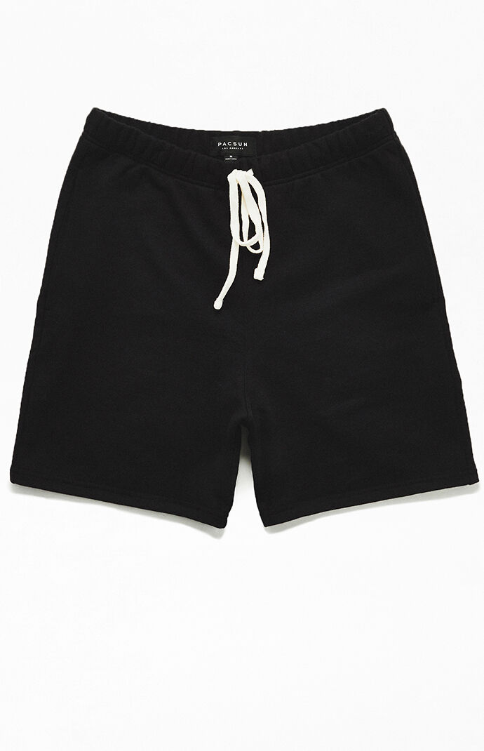 Black French Terry Active Shorts