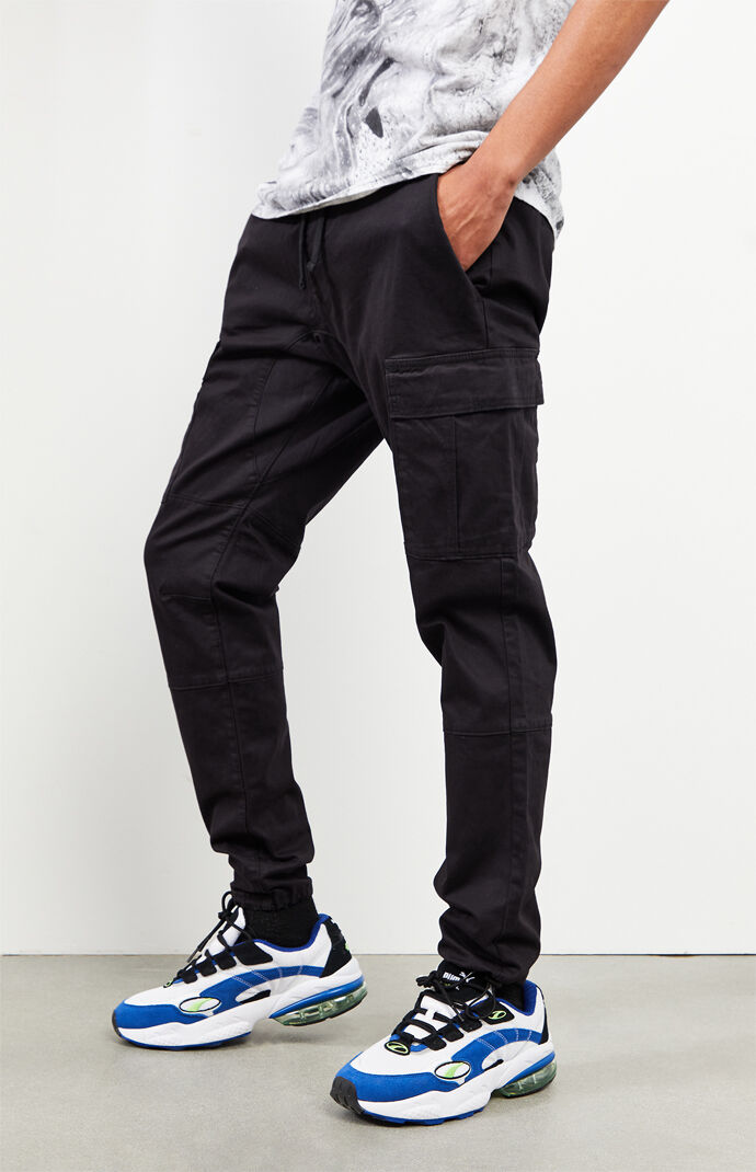 Workwear Black Slim Fit Cargo Pants